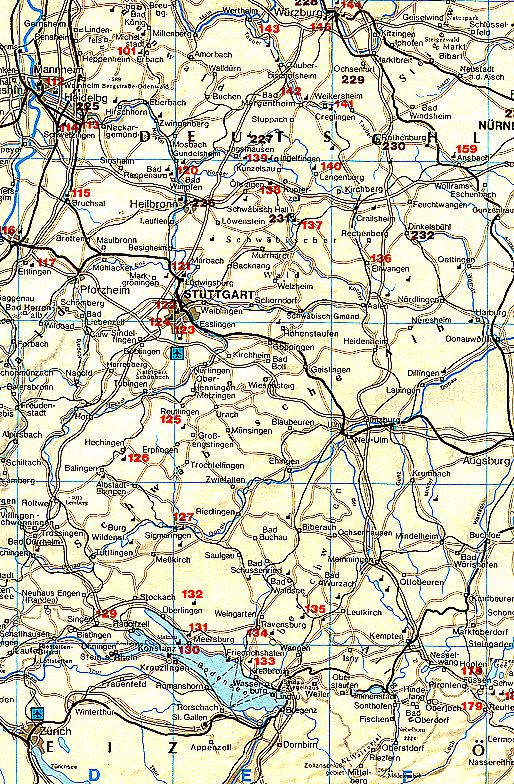PageGerCastles1html – Lichtenstein Germany Map